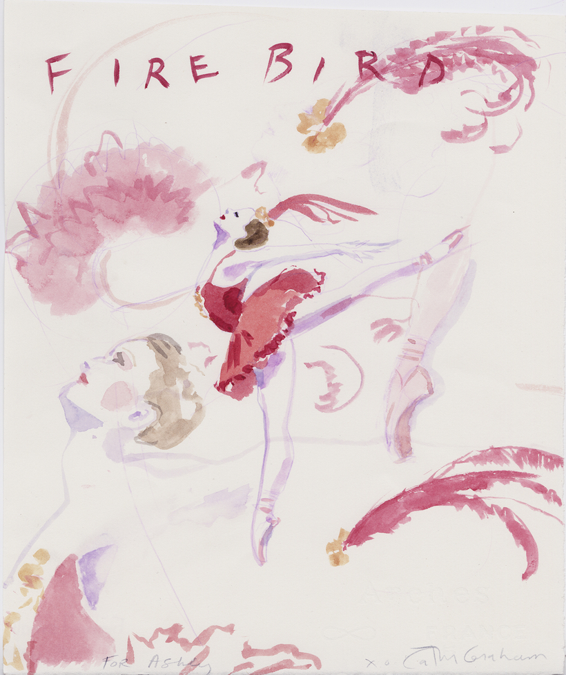 A memento of Stravinsky's Firebird choreographed by Balanchine.