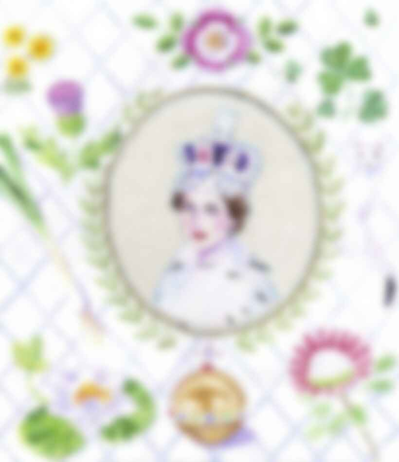 """""""While doing research on the British florist Constance Spry, who did the flowers and, surprisingly enough, co-created the chicken recipe for Queen Elizabeth's 1953 coronation lunch, I was struck by Elizabeth's radiance and grace as she prepared to take the crown."""""""