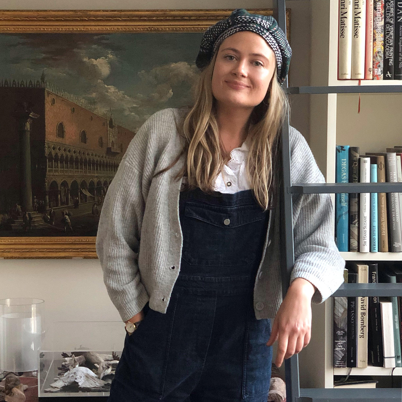 Charlie Porter, photographed by her sister Miranda in their parents' apartment, Paddington, London, February 2019.