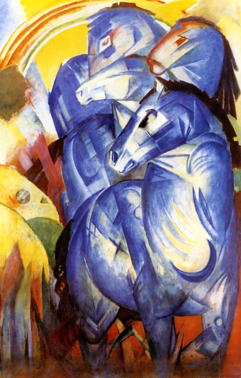 Franz Marc's Tower of Blue Horses, missing but not necessarily gone.