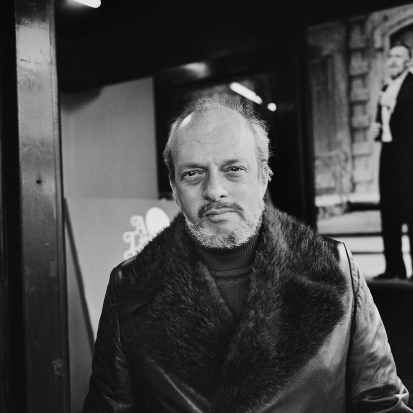 Hal Prince in London at the Adelphi Theatre during rehearsals for A Little Night Music, 1975.