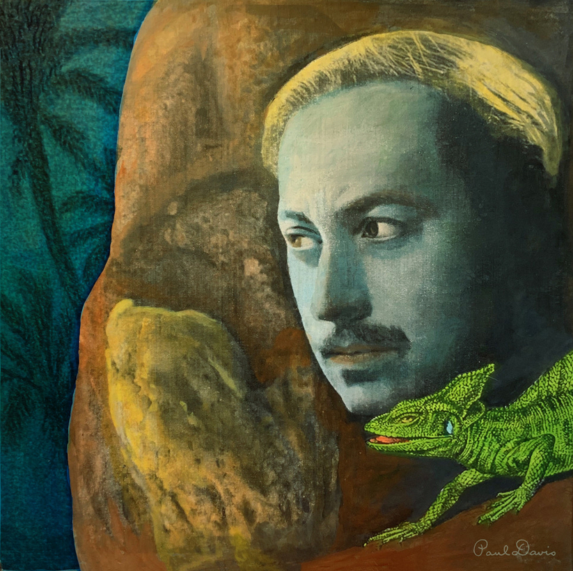 A portrait of Tennessee Williams.