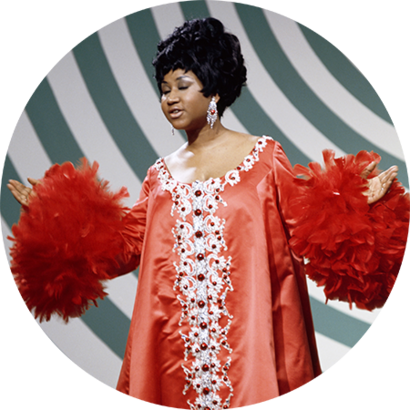 Aretha Franklin performing on The Andy Williams Show, on May 4, 1969.