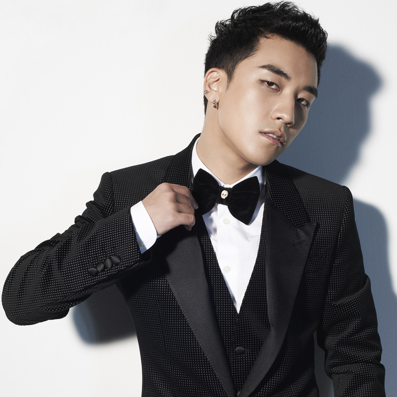 The K-pop star Seungri—think Justins Bieber, Timberlake, maybe even Theroux, rolled into one.