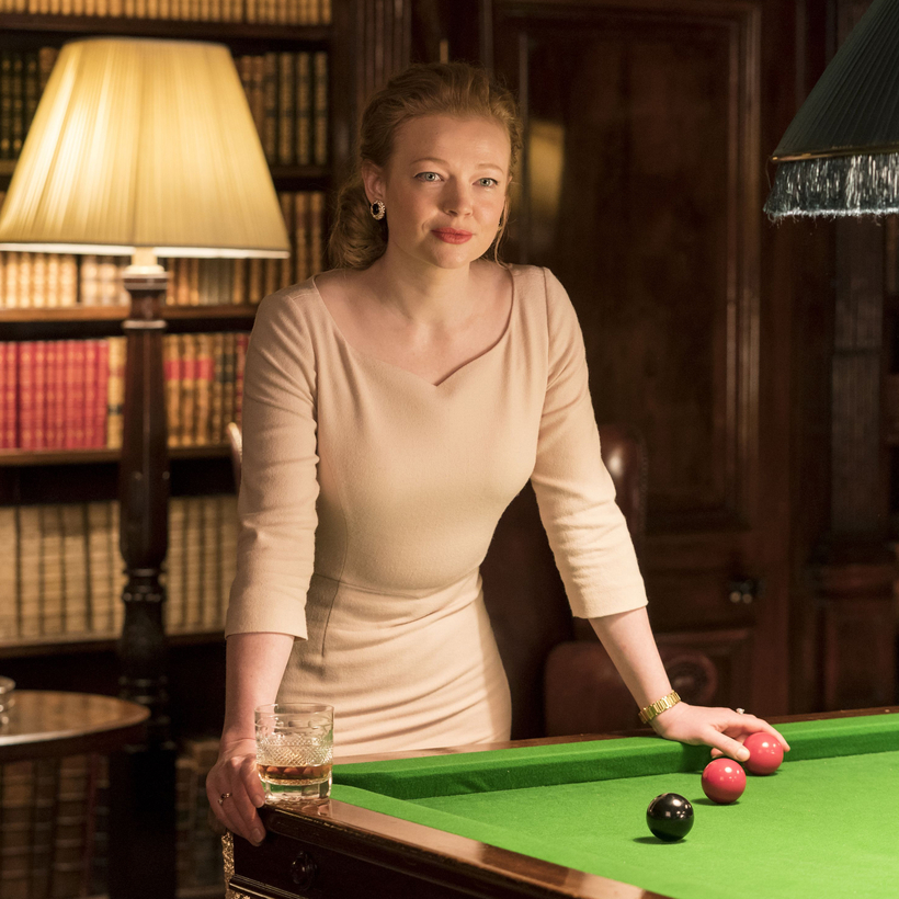 Sarah Snook's character, Shiv, in the first season of Succession.