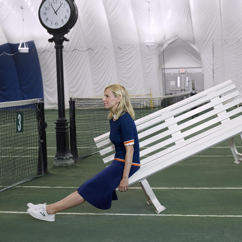 Tory Burch, whose sworn enemy is boredom.