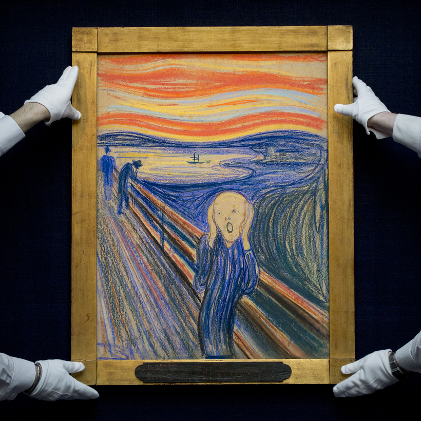 Edvard Munch's The Scream, purchased by Leon Black at Sotheby's in 2012 for $120 million.