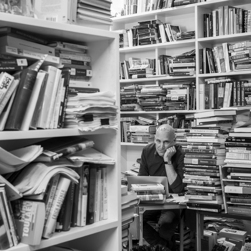 Edwin Frank in the offices of The New York Review of Books.