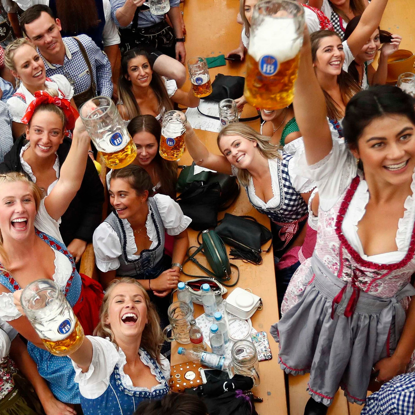Toasting female empowerment at Oktoberfest.