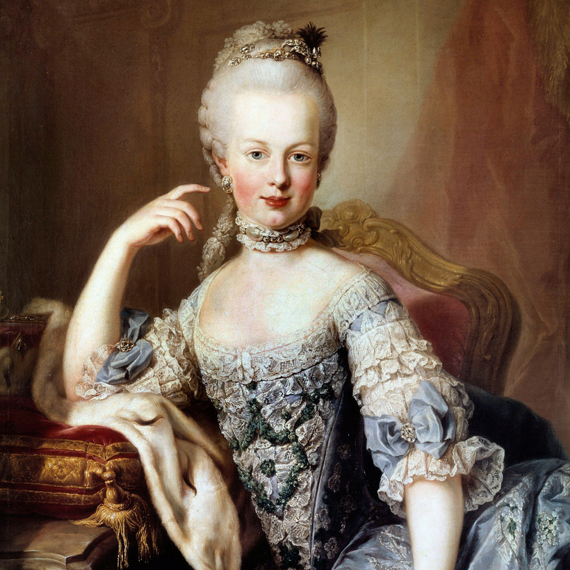 Martin van Meytens's Portrait of Marie Antoinette, painted shortly before she took the throne.