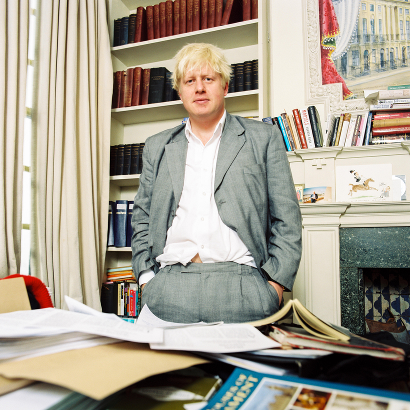 Boris Johnson in 2003, when his day jobs included Conservative M.P. and editor of The Spectator.