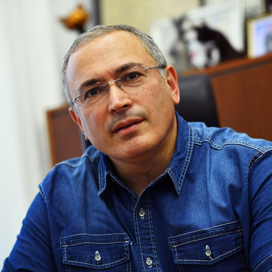 Mikhail Khodorkovsky in London. The former oil tycoon fell afoul of the Kremlin and went to prison.