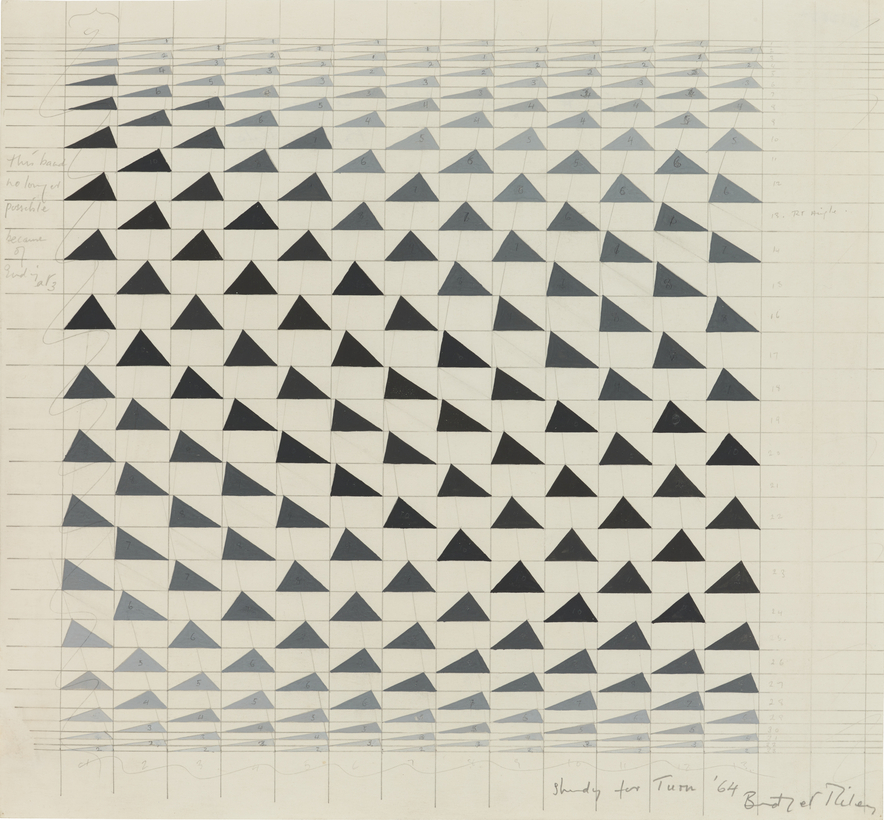 Bridget Riley's study for Turn. A retrospective of the artist's work opens on October 23 at London's Hayward Gallery.
