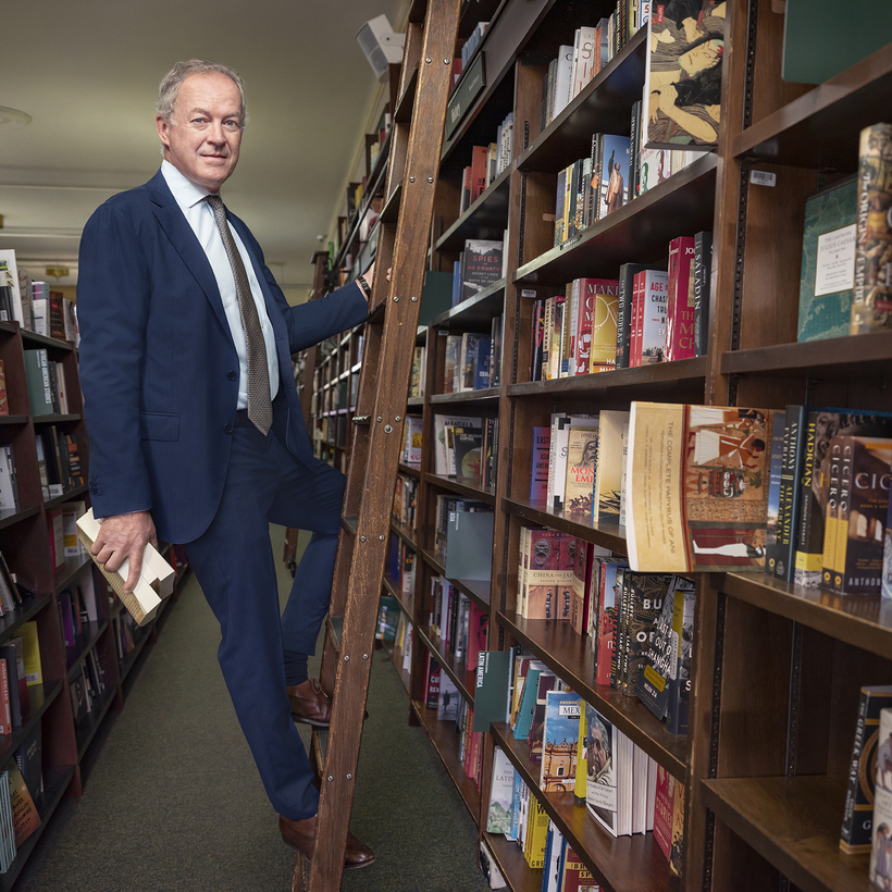 James Daunt in the Barnes & Noble in Union Square, New York City.