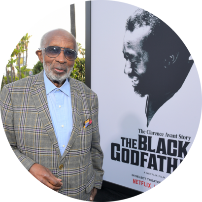 US music producer Clarence Avant attends the world premiere of 'The Black Godfather' at the Paramount Theater in Hollywood, 2019.