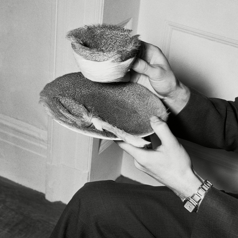 "A Meret Oppenheim fur-lined teacup from the ""Fantastic Art, Surrealism and Dada"" exhibition, in 1936."