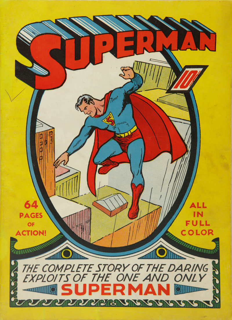 Flying start: the cover of Superman No. 1, published in June 1939.