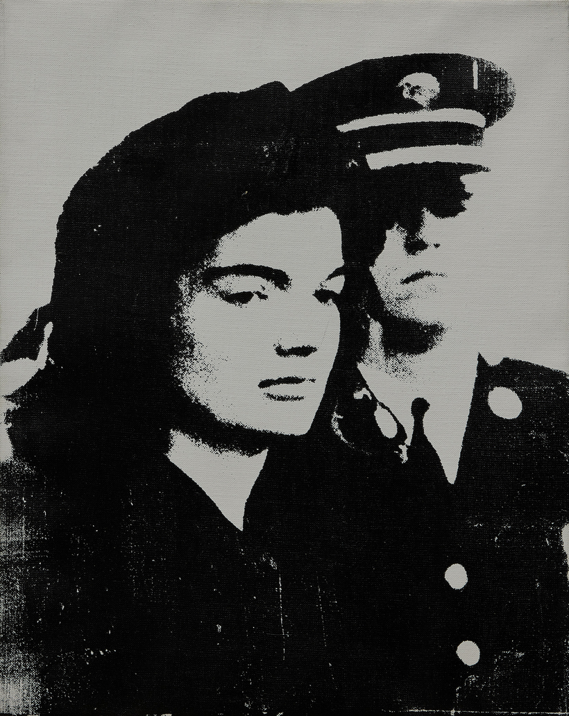 Andy Warhol's Jackie, which hung in the New York apartment of artist couple Christo and Jeanne-Claude, is expected to sell for $1 million to $1.5 million at Sotheby's in Paris on February 17.