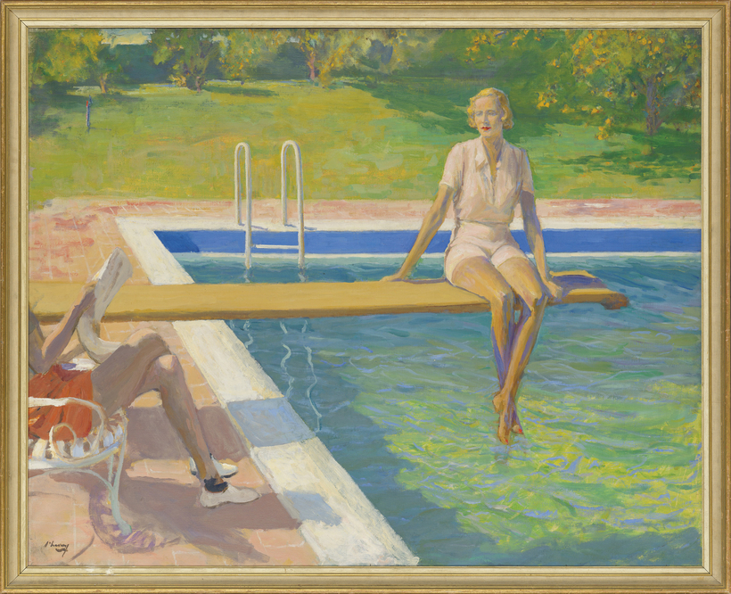 John Lavery's The Viscountess Castlerosse, Palm Springs is expected to sell for $550,000 to $900,000 at Christie's in London on March 1.